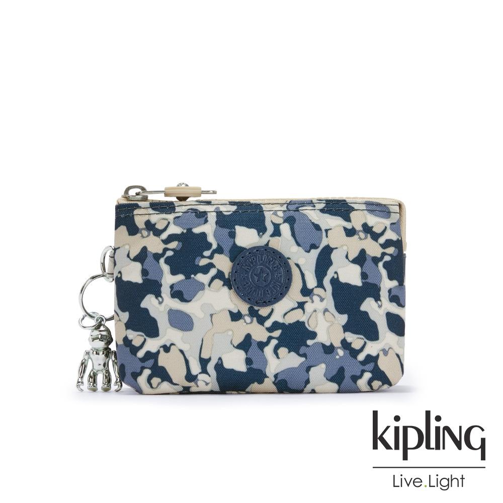 Kipling 復古渲染花朵三夾層配件包-CREATIVITY S