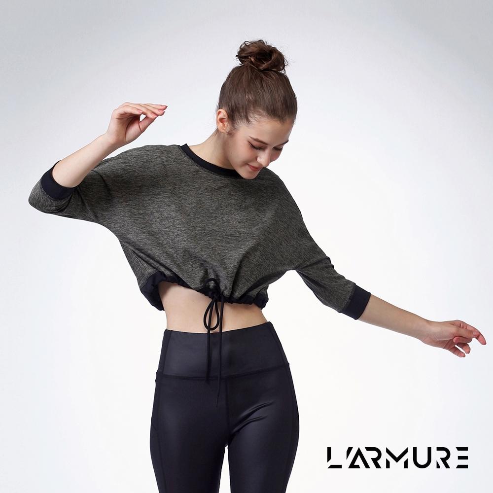 L'ARMURE 女裝 ECO-lor短版七分袖上衣 (麻花褐色)