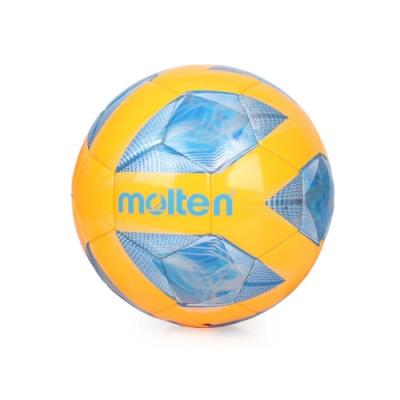 MOLTEN #5合成皮足球-訓練 5號球 F5A2000-OB 橘藍銀