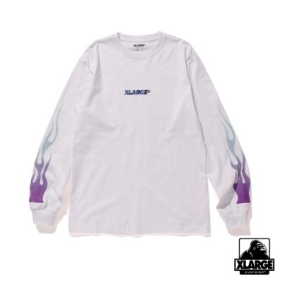 XLARGE LST FIRE STANDARD LG長袖T恤-白