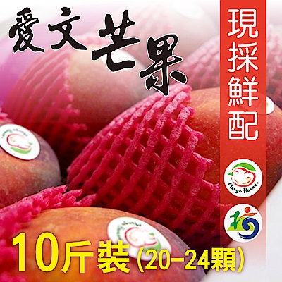 Mango House 枋山愛文芒果 10斤/箱(20~24顆/箱) 輸日等級蘋果檨