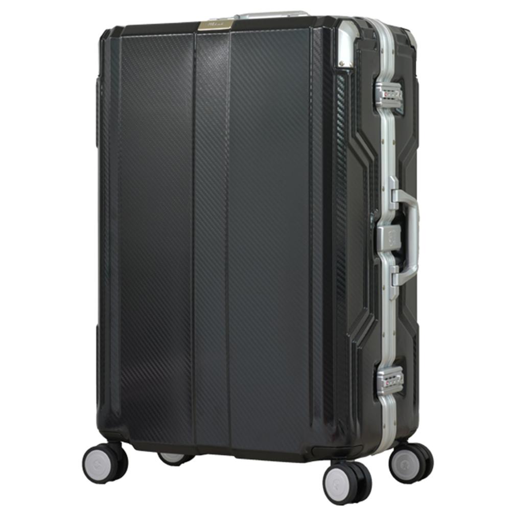 日本LEGEND WALKER 6720-68-28吋 發光圓環把手行李箱 非洲黑
