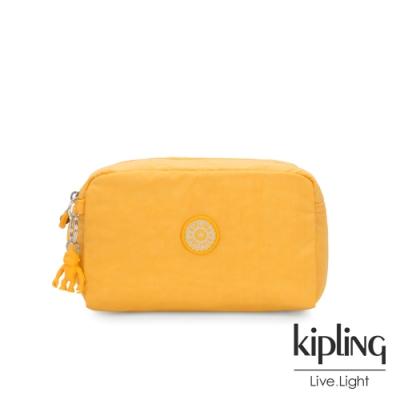 Kipling 冒險活力黃長形化妝包-GLEAM