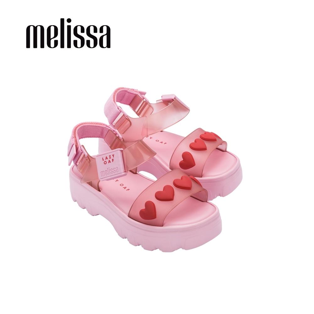 Melissa x Lazy Oaf 聯名厚底立體心型設計涼鞋-粉