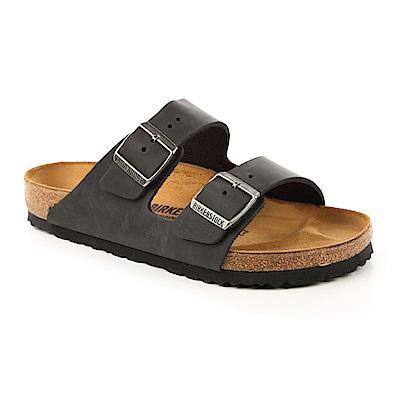 勃肯BIRKENSTOCK552111亞利桑那經典二條拖鞋-油感皮-黑