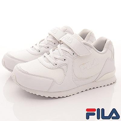 FILA頂級童鞋 私校必備運動鞋款 FO19R-111白(中大童段)C