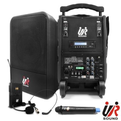 UR SOUND 75W雙頻藍芽MP3移動式無線擴音機(鋰電一手一腰)PA9223NBL