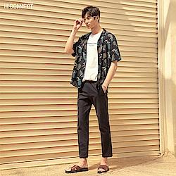 H:CONNECT 韓國品牌 男裝-正反圖印圓領T-shirt-白