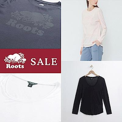 [時時樂限定]Roots -女裝-雪梨上衣/庫柏海狸長袖T恤(4色)