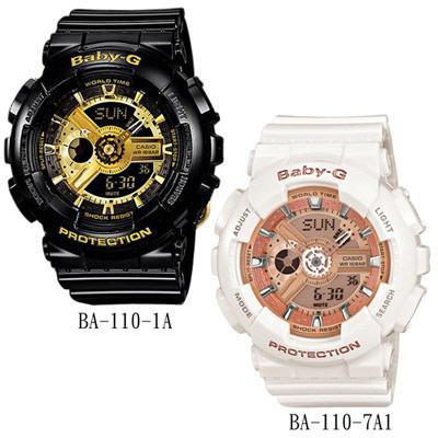 Baby-G 率性風格運動錶(BA-110)- 2色任選