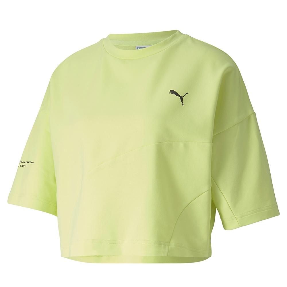 PUMA-女性流行系列Evide短版短袖T恤-陽光綠-歐規