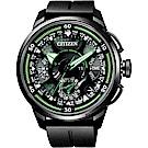 CITIZEN 星辰 光動能鈦GPS衛星對時錶-綠指針/48.5mm CC7005-16E