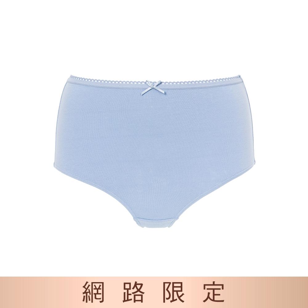 黛安芬-單品褲系列 棉感包臀高腰三角內褲 M-EL 暮光藍