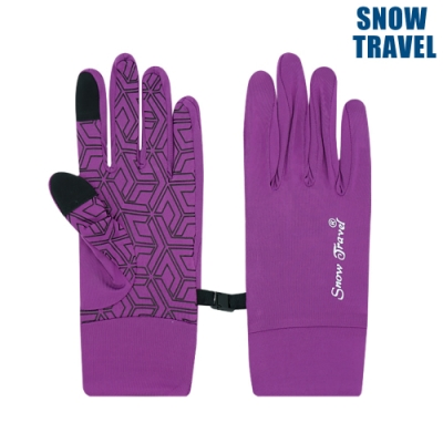 【Snow Travel】抗UV冰涼反光觸控手套 AH-28 / 桃紅紫