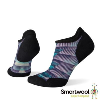 SmartWool 女 PhD輕量菁英減震型跑步PRINT踝襪 海浪藍