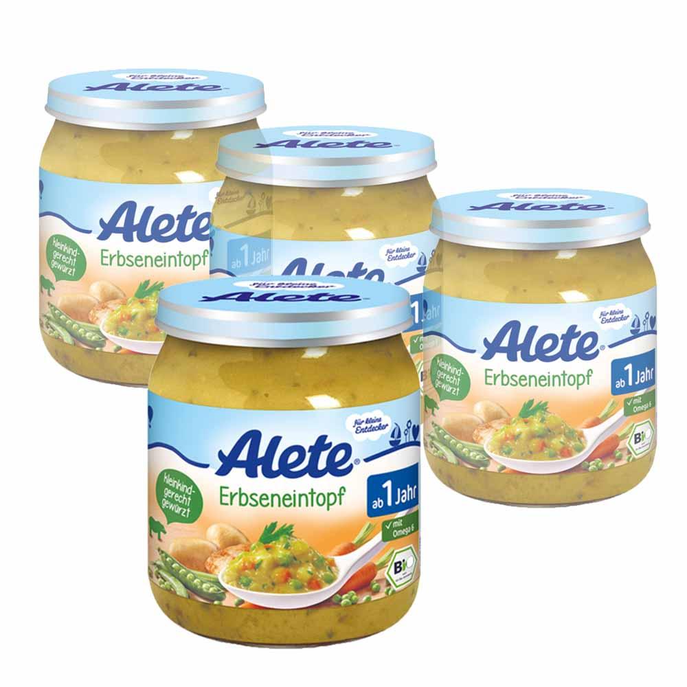 德國Alete-寶寶副食品8+ (西式青豆泥) 4入組
