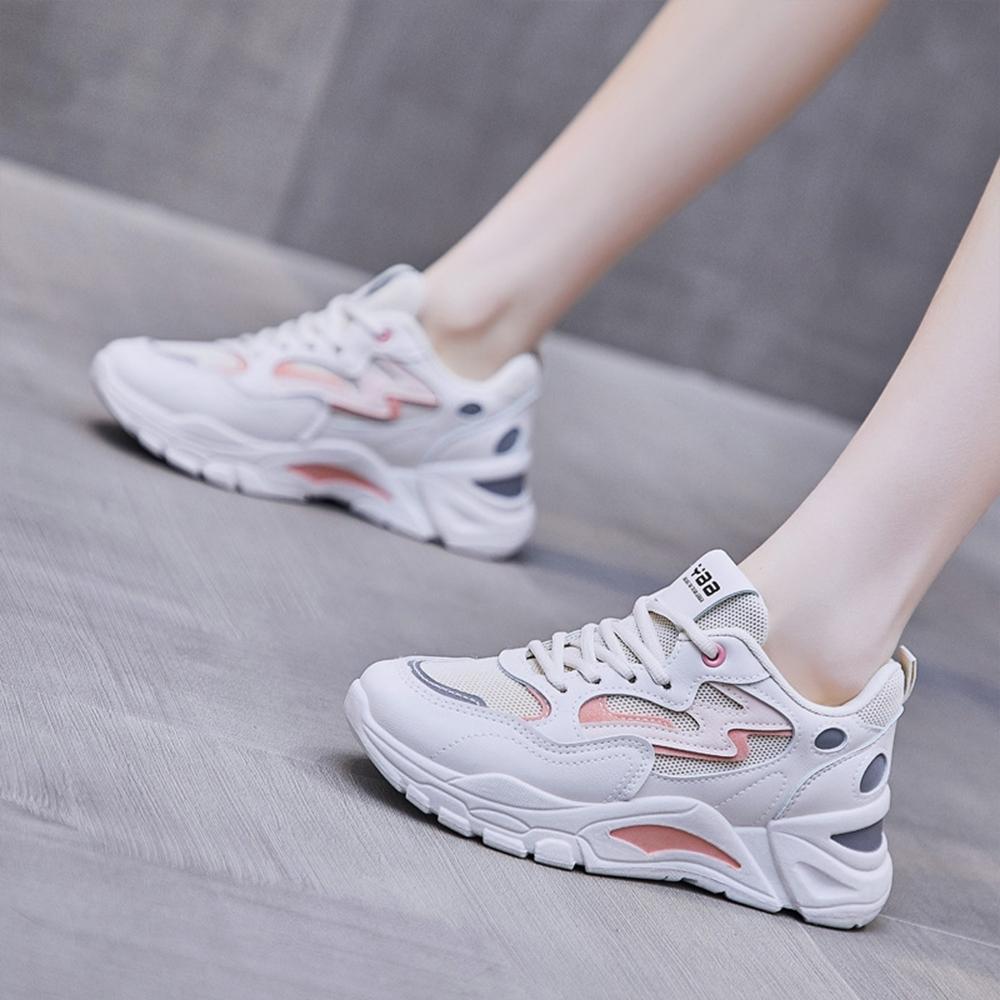 LN 現+預 撞色休閒厚底老爹鞋(老爹鞋/休閒鞋) (米粉)