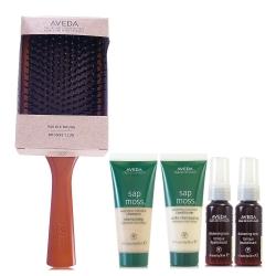 AVEDA木質髮梳+檞香洗/乳40ml+造型霧*2