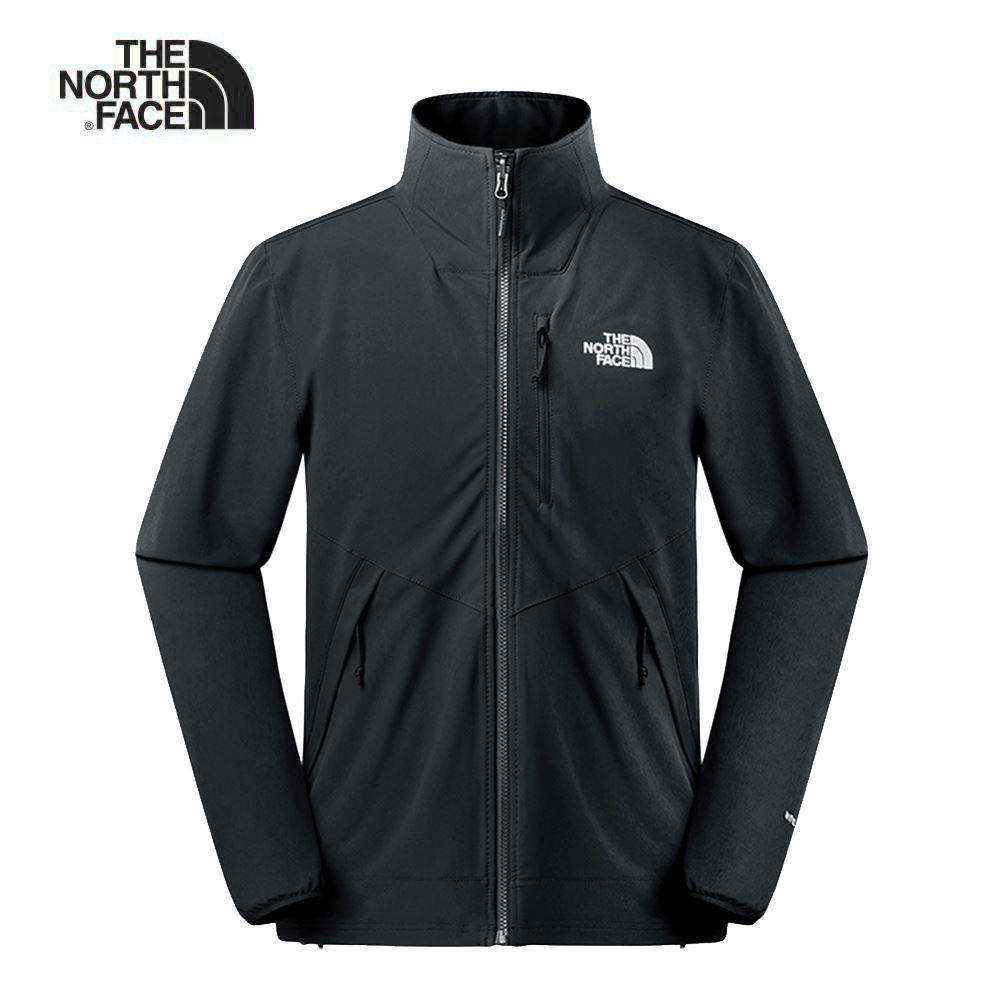 The North Face北面男款黑色防風防潑水衝鋒衣|3VQKJK3