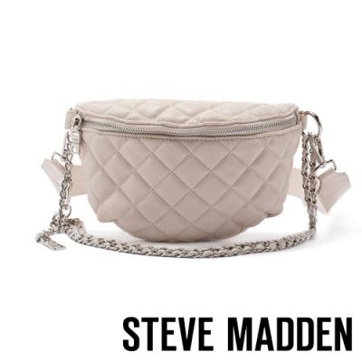 STEVE MADDEN-BMANDIE 金屬鍊條菱格個性腰包-米色