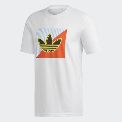 ADIDAS 休閒 運動 短袖 上衣 男款 白 FM3389 Diagonal Logo