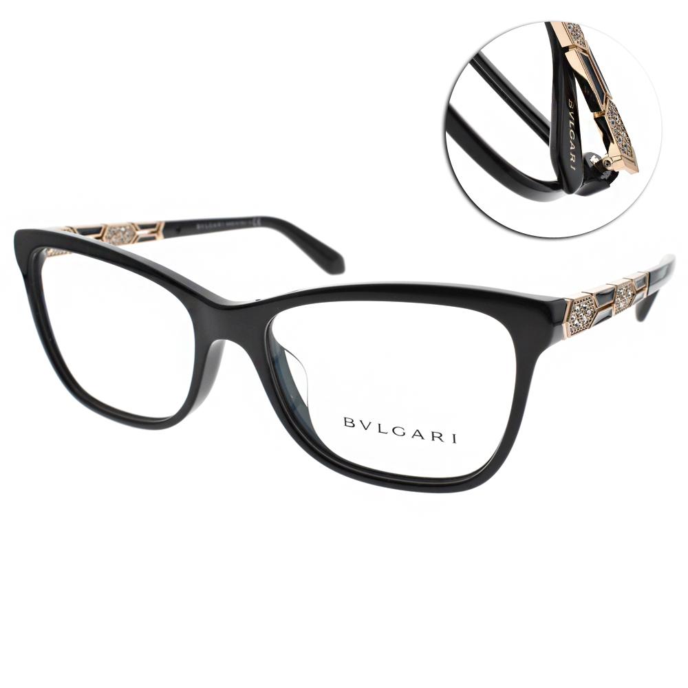 BVLGARI眼鏡 珠寶時尚/黑-金#BG4135BF 501