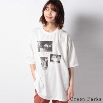 Green Parks 特色照片印花T恤