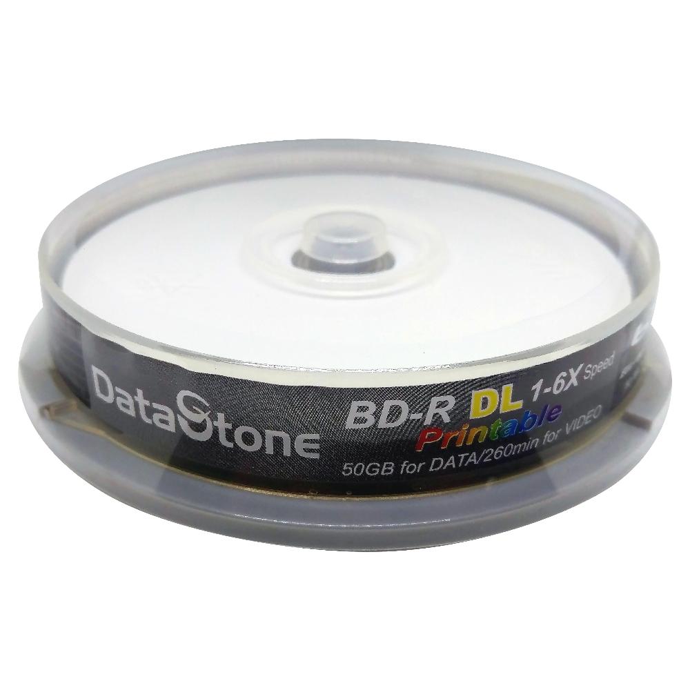 DataStone 藍光 6X BD-R DL 50GB 珍珠白滿版 可印片 (10片)