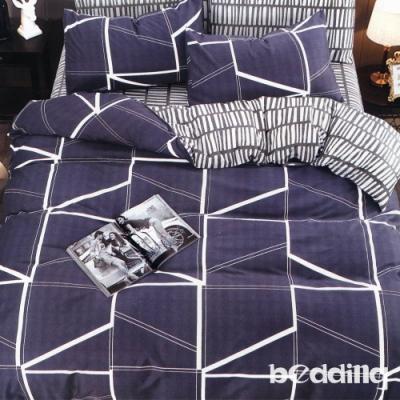 BEDDING-活性印染6尺雙人加大薄床包三件組-簡格