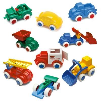 【時時樂限定】瑞典Viking Toys維京玩具-彩色玩具車(14cm,5入/組,款式隨機)