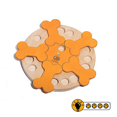 【靈靈狗】迴轉骨頭輪盤 - 寵物桌遊/益智玩具/互動遊戲