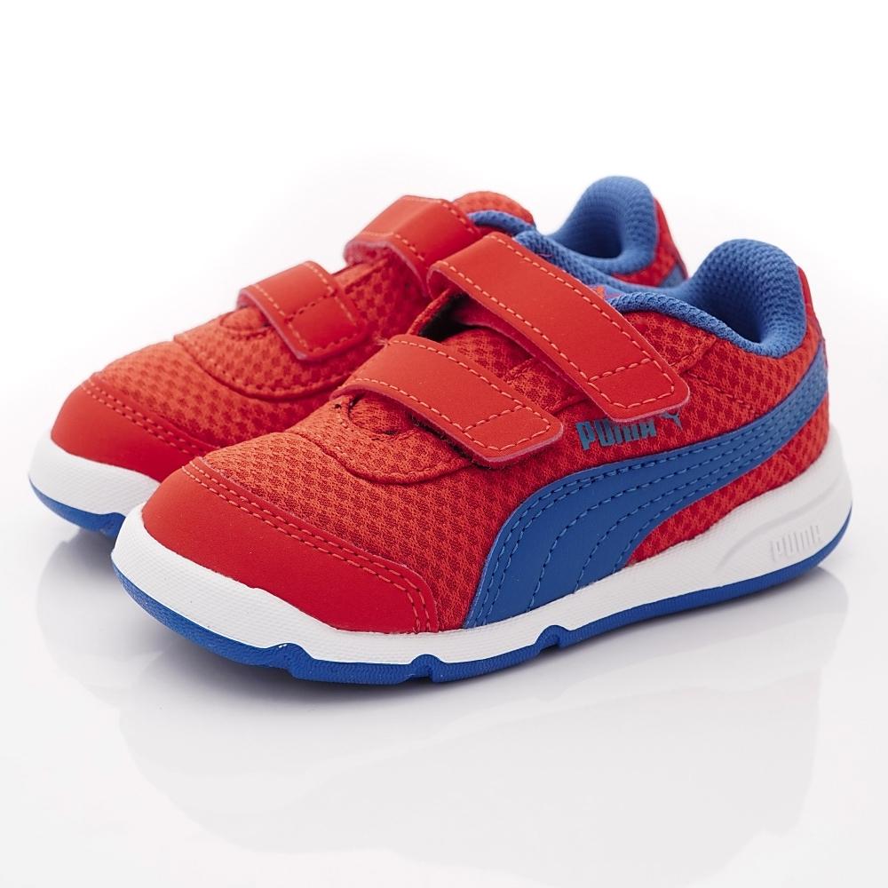 PUMA童鞋 雙絆帶經典透氣鞋款 ON92525-05藍紅(小童段)
