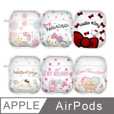 【正版授權】Sanrio三麗鷗 Hello Kitty/美樂蒂/雙子星 AirPods專用 透明矽膠保護套