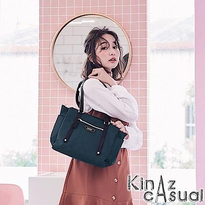 KINAZ casual 風尚潮流兩用斜背托特包-沉靜深藍-墨鏡系列