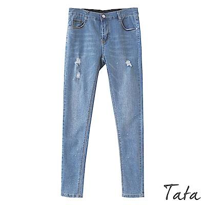 潑墨刷破牛仔褲 TATA