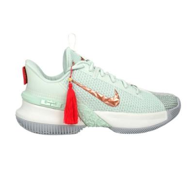 NIKE AMBASSADOR XIII 限量-男籃球鞋-LEBRON 明星款 流蘇 CQ9329300 果綠咖啡金