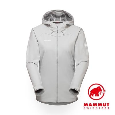 【Mammut】Sapuen SO Hooded Jacket 防風透氣軟殼連帽外套 公路灰 女款 #1011-01060