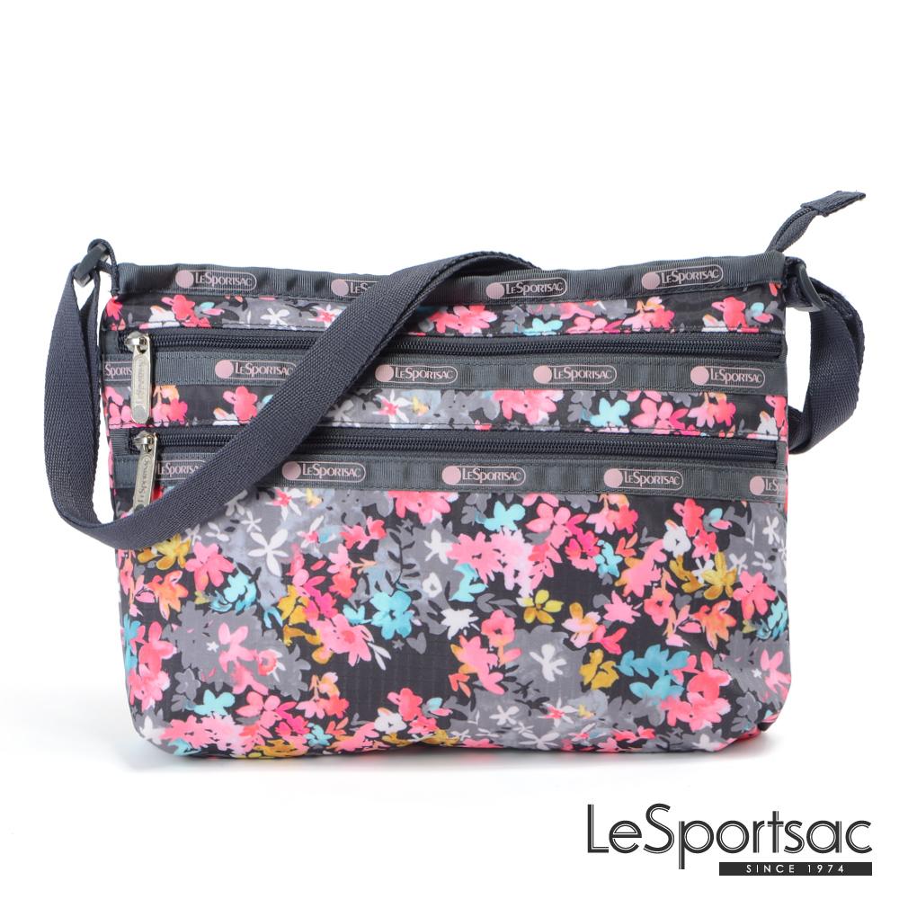 LeSportsac - Standard橫式三層拉鍊斜背包(你好!春天)