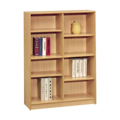 文創集 卡卡3尺開放式8格書櫃(二色可選)-91x30x121cm免組