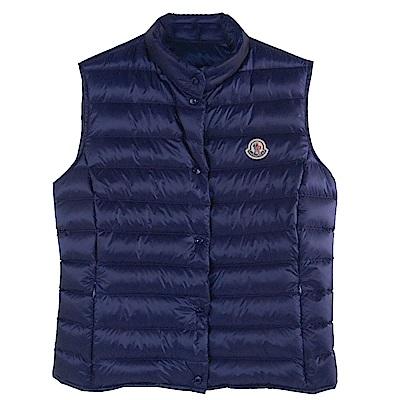 MONCLER LIANE品牌經典羽絨車縫Longue Saison背心(深藍系)
