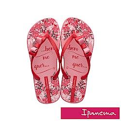 IPANEMA 花漾蘿莉人字拖鞋-粉色/紅色