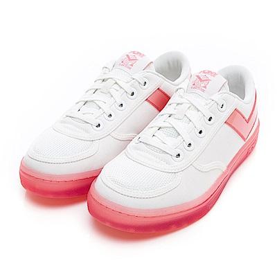 【PONY】SLAM DUNK半透明Q光澤果凍鞋 小白鞋 板鞋 女鞋 粉紅