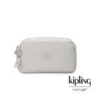 Kipling 探索亮銀灰長形化妝包-GLEAM