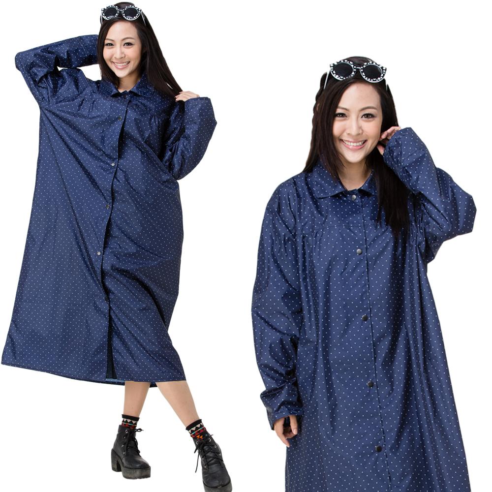 【東伸 DongShen】俏麗型日式大衣式雨衣 product image 1