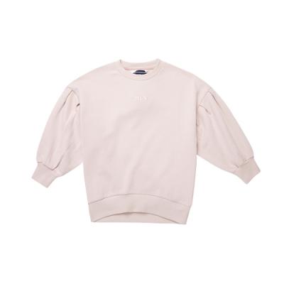 FILA KIDS #日潮攻略首部曲 女童七分袖上衣-粉紅 5TEU-4435-LP