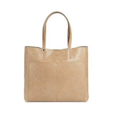 MARKBERG Jayda 丹麥手工牛皮個性寬版托特包 購物包/手提包(米駝色)