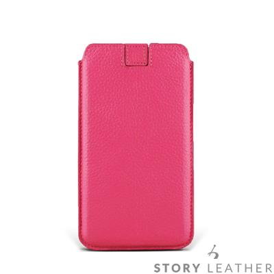 STORYLEATHER iPhone XR 6.1吋 貝殼式抽拉帶 客製化皮套