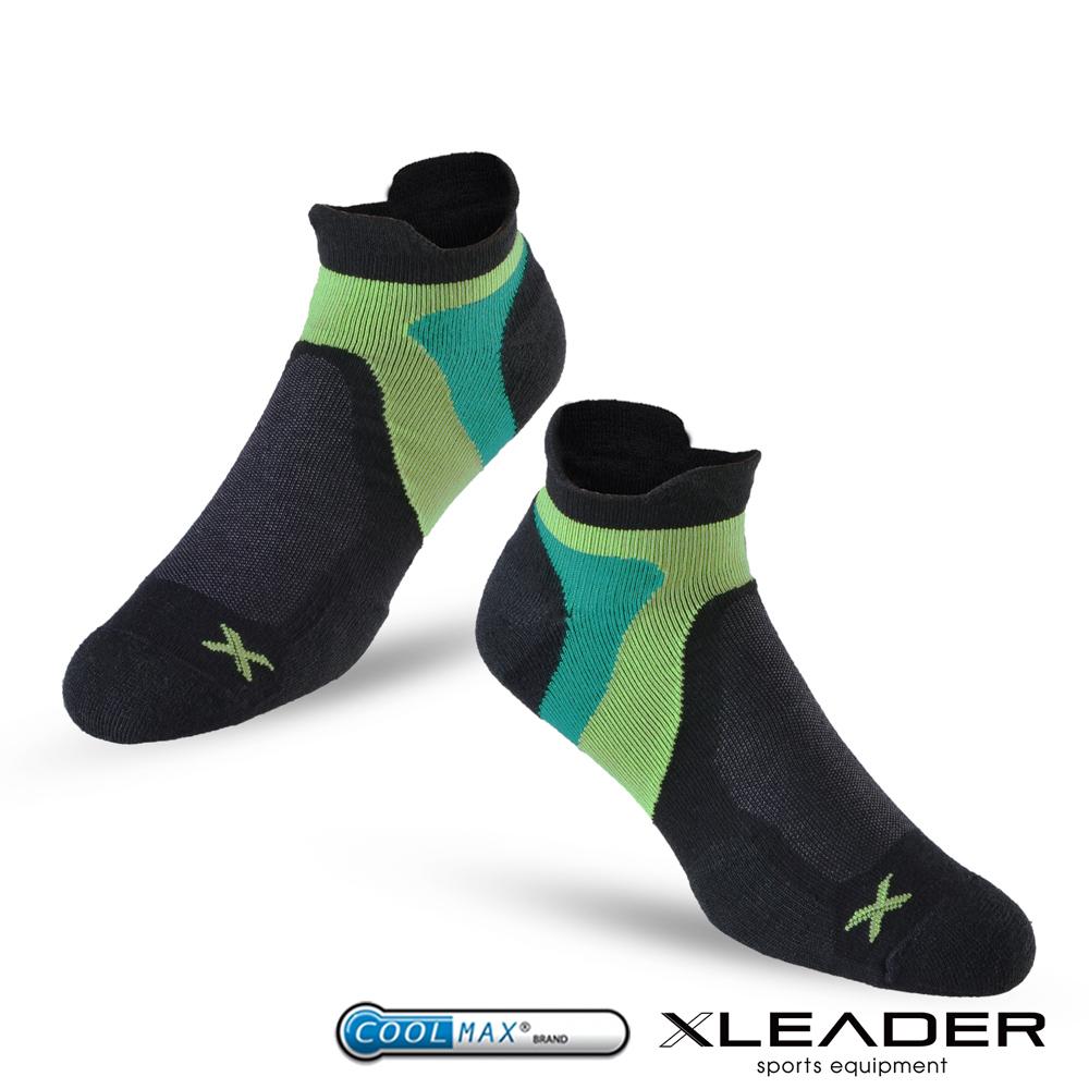 LEADER ST-02 X型繃帶加厚耐磨避震短襪除臭運動襪 男款 黑綠 - 急