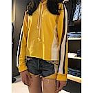 Levis 女款 501 高腰排釦牛仔短褲 幾何拼接 拉鍊裝飾 褲管不收邊