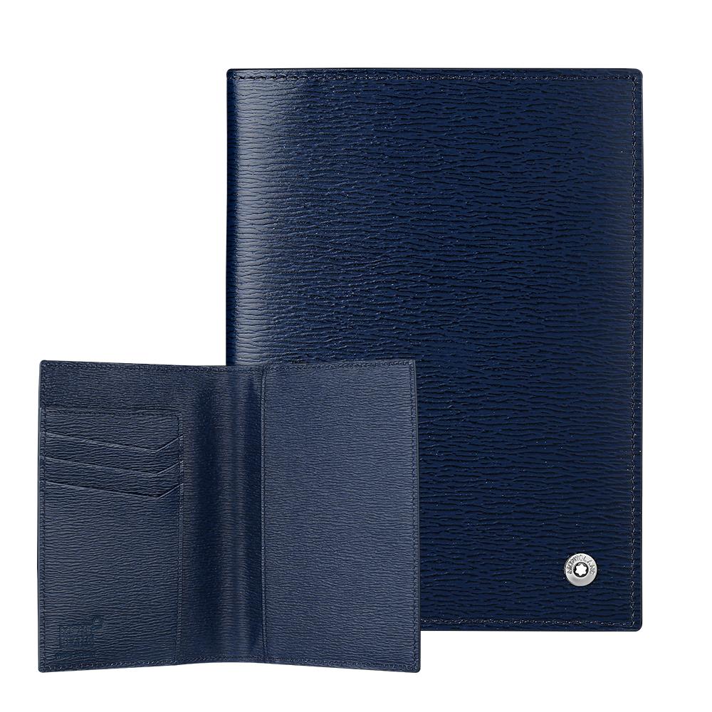 萬寶龍西方之星護照夾-藍